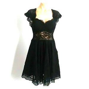 Guess lace dress black sheer